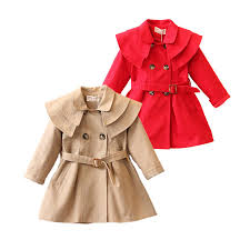 causal baby girl trench coat european solid cotton trench jacket for 1 6years girls kids children outerwear coat clothes hot black leather trench coat