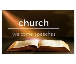 Church Occasion Speech Sample