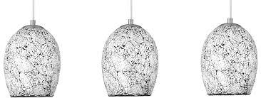 modern white mosaic glass 3 lamp pendant light