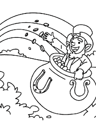 Pot Of Gold Color Sheets A Pot Of Gold Coloring Page Crayola Com