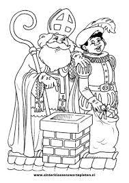 25 Bladeren Kleurplaten Van Sinterklaas En Zwarte Piet Mandala