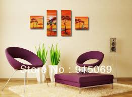 Small Picture huge African style sunrise modern abstract wall art oil painting