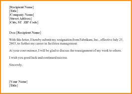 Letter Of Resignation Template Word Template Template Of A Letter Of Resignation 7