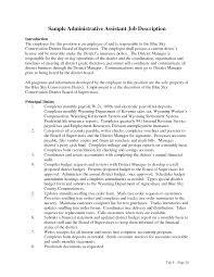 best photos of employee job description sample resume administrative assistant job description