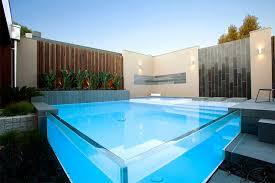 swimming pool 2 glass jacuzzi square glass pool