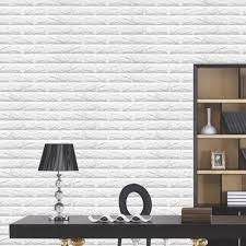 White 3D Modern Design Brick Wallpaper ...