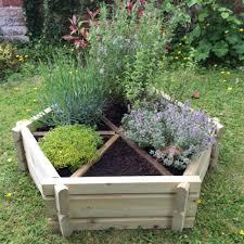 norlog small herb wheel wooden planter