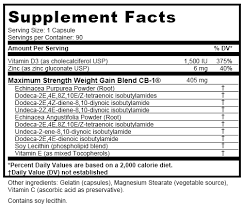 cb 1 supplement facts cb 1 weight gainer bottle