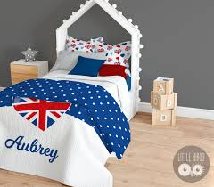 personalized british bedding set