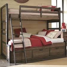 Twin Over Full Bunk Bed with 3 Storage Drawers by Legacy Classic