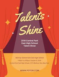 Talent Show Poster Designs Online Talent Show Program Template Fotor Design Maker