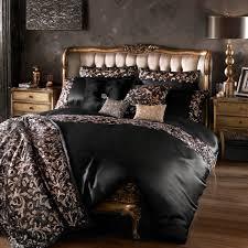 lazzaro black rose gold double size bedding
