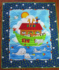Noah's Ark Quilt, Dove, Baby Quilt, Quilted Panel, Bible story ... & Noah's Ark Quilt, Dove, Baby Quilt, Quilted Panel, Bible story, Baby Adamdwight.com
