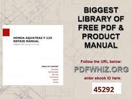 aquatrax manual pdf