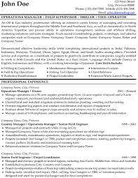 Oil And Gas Resume Format Resume Template Ideas