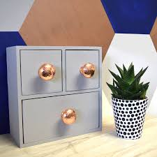 copper door knobs. copper and silver hammered cupboard door knobs