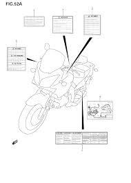 2009 suzuki v strom 650 dl650 label model k8 k9 parts best oem rh bikebandit