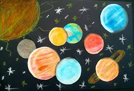 Image result for oil pastel planets