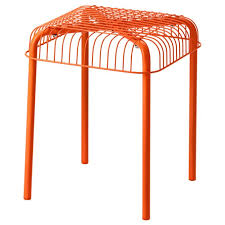 vasteron stool in outdoor orange