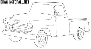 How to Draw a Chevy Truck | Drawingforall.net