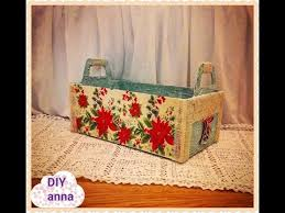 Decorated Shoe Box Ideas Christmas decoupage recycle shoe box DIY Christmas basket ideas 55
