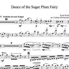 dance of the sugar plum fairy sheet music dance of the sugar plum fairy karaoke sample by lindsey stirling