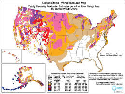 Map Of Best Locations For Wind Power Wind Power Solar