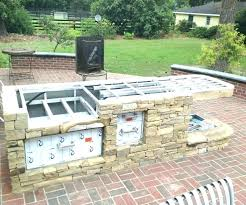 drop in charcoal grills for outdoor kitchens grill island plans kitchen with sink and photos cooking out