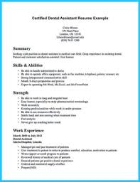 certified dental assistant resume example page 1 certified dental assistant resume