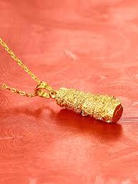 24k gold plating gold dragon pendant