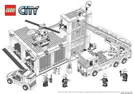 Coloriage Lego City Pompier Dessin