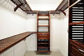 image of wood closet shelving modern