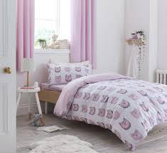 image is loading bianca cotton soft owl blush duvet cover set