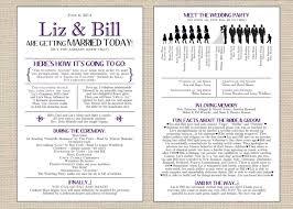 Fun Wedding Programs Interesting Wedding Programs Examples Wedding 2018