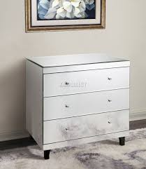 Mirrored Furniture Foxhunter Mirrored Furniture Glass With Drawer Chest Cabinet Table