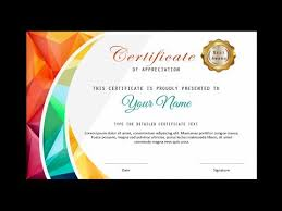 Microsoft Powerpoint Certificate Template How To Make A Certificate In Powerpoint Professional Certificate Design Free Ppt