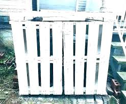 outdoor trash can holder outside storage cabinet garbage home depot cans plans enclosure made from pallets
