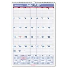 Basic Calendars Shopokstate At A Glance Recycled Basic Monthly Wall Calendars