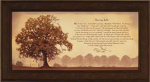 Bonnie Mohr Living Life Quote Best LIVING LIFE By Bonnie Mohr FRAMED ART PRINT PICTURE Tree