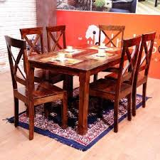 induscraft chair bench dining table set. buy induscraft 6 seater dining table set chair bench o