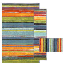 mohawk home rainbow multi 8 ft x 10 ft 3 piece rug set