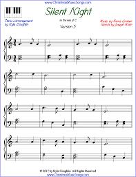 Silent Night Piano Sheet Music Free Printable Pdf