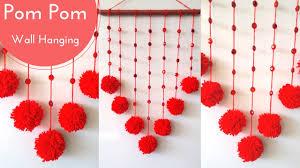 Pom Pom Decorations New Wall Hanging Crafts Ideas Decorations Diy With Pom Pom