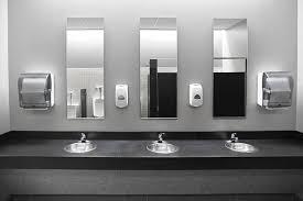 public bathroom mirror. Restroom Sinks Stock Photo Public Bathroom Mirror