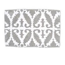 khoma gray bath rug by john robshaw undefined