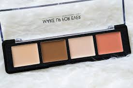 the beauty vanity make up for ever pro sculpting face palette 30 review swatches