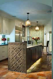 mercury glass lighting kitchen mediterranean with kitchen island contemporary counter height stools