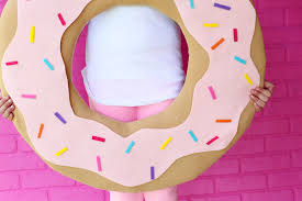 picture of no sew diy donut costume