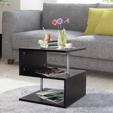 side s shape cube coffee console table