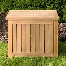 outdoor teak storage box